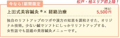 松戸・柏エリア初!上田式美容鍼灸®×経絡治療はじめました。